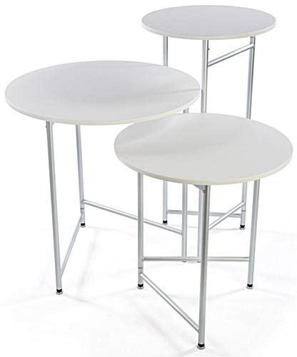 trade show round tables trade show cocktail table set group of 3