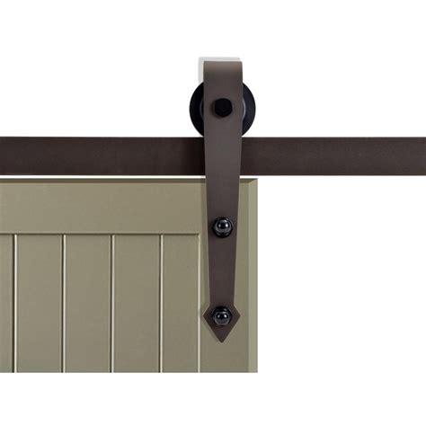 barn door roller calhome 72 in antique bronze vintage arrow barn style