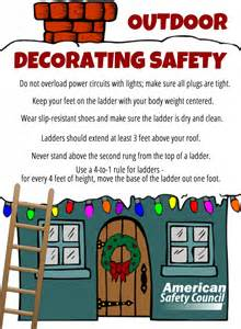 outdoor holiday decorating safety american safety council blog