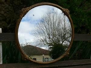 Miroir Rond Laiton : miroir rond encadrement laiton objet de d co albert antiquit ~ Teatrodelosmanantiales.com Idées de Décoration