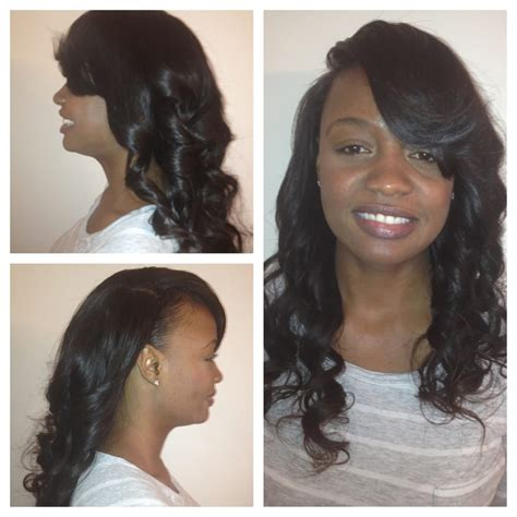 Hairstyles With Weave Sewed In by Side Part Sew In Yelp