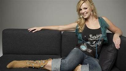 Boots Jeans Katherine Heigl Couch Blonde Cowboy