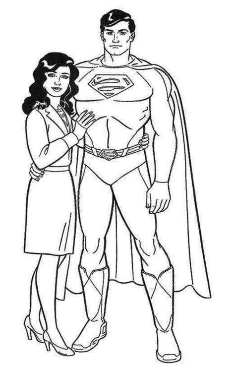 Kleurplaat Alleen Ken by Handsome Kent And Lois Coloring Page Lois Clark