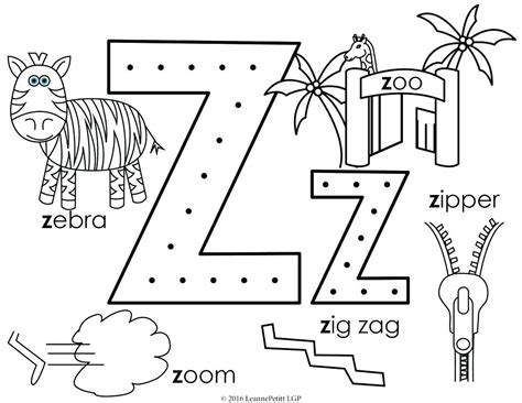 Fresh Letter Z Coloring Pages Gallery