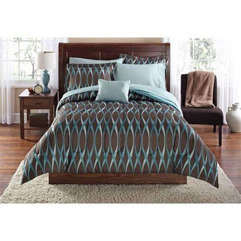 mainstays wavy bed in a bag bedding set walmart com