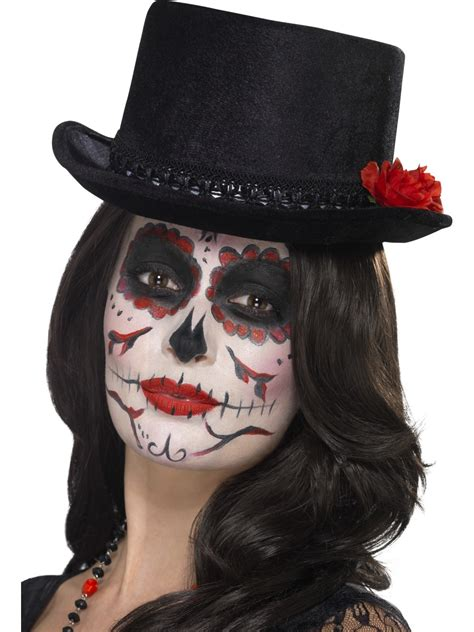 adult day of the dead top hat 44638 fancy dress ball