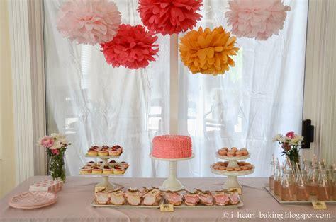 dessert table for baby shower i heart baking pink baby shower dessert table sugar cookie favors macarons mini