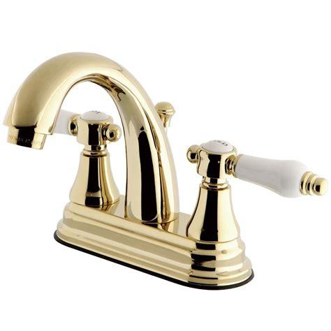 kingston brass porcelain 4 in centerset 2 handle