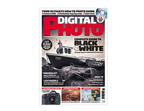 Digital Photo Magazine  Front Cover & Double Page Spread