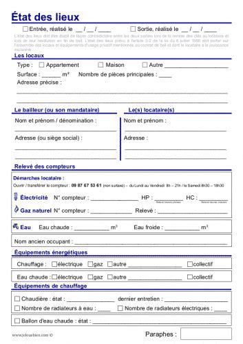 modele etat des lieux meublé gratuit format word modle inventaire location meuble word inventaire location