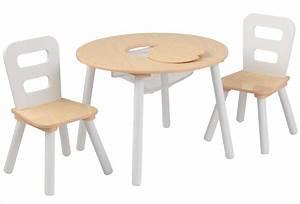 Table Enfant Bois : table ronde en bois pour enfant et 2 chaises grises kidkraft 26166 ~ Teatrodelosmanantiales.com Idées de Décoration