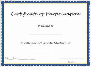 certificate of participation template key components to With training participation certificate template