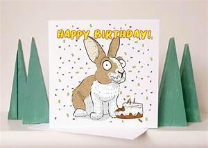 rabbit, birthday, card, rabbit, card, cute, birthday, card, unique