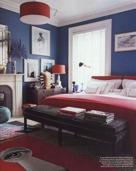 navy bedroom swagger  atelle magazine  decor color