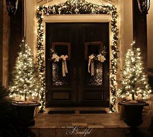 Christmas, Porch, And, Front, Door, Garland, Diy