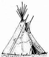 Tent Wigwam Teepee Clipart Drawing Coloring Native American Indian Pages Americans Colouring Tipi Clip Teepees Printable Indians Sheet Architecture Tepee sketch template