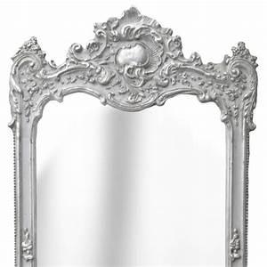 Grand Miroir Rectangulaire : grand miroir rectangulaire baroque argent ~ Preciouscoupons.com Idées de Décoration