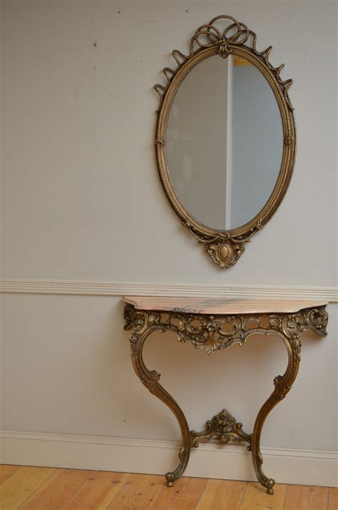 mirror console table console table table with mirror antiques atlas