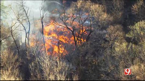 crews battle small grass fire  guthrie news