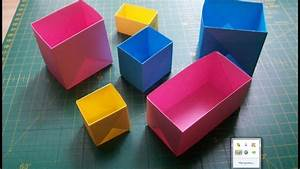 Diy Easy Paper Crafts  How To Make Origami Rectangular And Square Box By One Diagram Tutorial