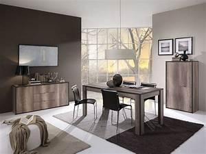 salle manger complte de couleur chne gris contemporaine baila With salle a manger couleur