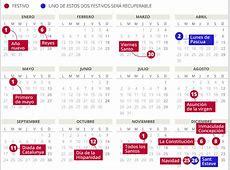 Calendario laboral del 2018 en Catalunya con todos los