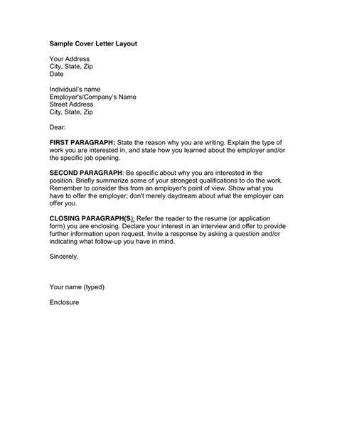 Cover Letter Dear Reader Example Resume Template