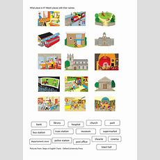 Places In Town  Interactive Worksheet