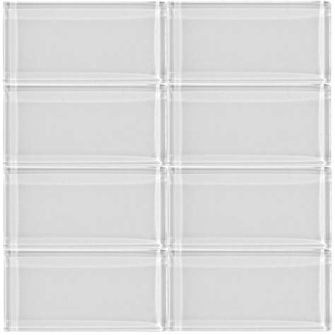 bright white glass 3 x 6 inch subway tile 8mm