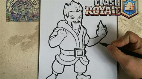 COMO DIBUJAR AL MAGO DE HIELO CLASH ROYALE / how to draw