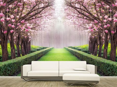 3d Wallpapers Trees by Custom 3d Wallpaper Beautiful Scenery Flowers And Trees