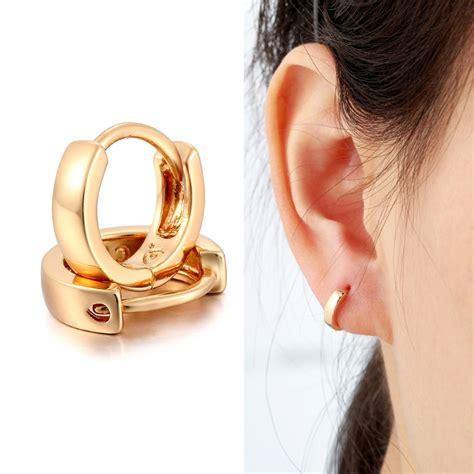 cheap gold huggies earrings  alibaba group