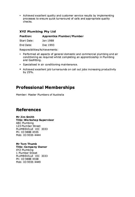 Plumber Resume Exles by Pin By Ririn Nazza On Free Resume Sle Sle Resume