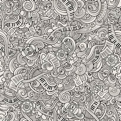 Doodles Seamless Pattern Cartoon Hand Drawn Abstract