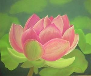 Dessin Fleurs De Lotus : dessin pastel fleurs ~ Dode.kayakingforconservation.com Idées de Décoration