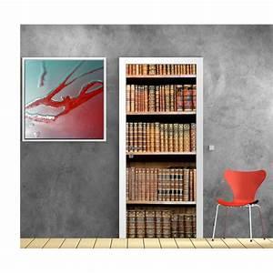 Papier Peint Sticker : papier peint porte d co biblioth que art d co stickers ~ Premium-room.com Idées de Décoration