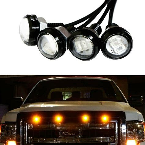 Truck Grill Lights by 4pc Ford Svt Raptor Style Led Grille Lighting Kit