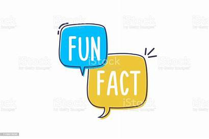 Fun Fact Words Bubble Vector Doodle Icon