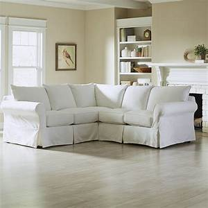 Furniture pretty slipcovered sectional sofa for comfy for Sectional sofas at ikea