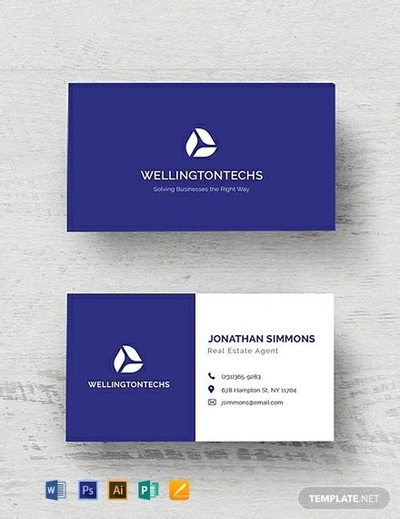 business card templates word psd indesign