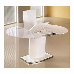 Table A Manger Ovale : table manger ovale extensible blanc laqu rico ~ Melissatoandfro.com Idées de Décoration
