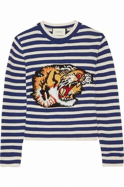 Gucci Sweater Intarsia Wool Striped Popsugar Merino
