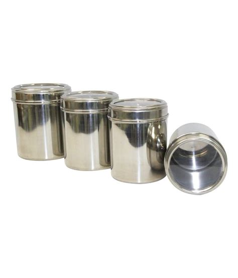 21 Off On Dynamic Store Stainless Steel Canisters With