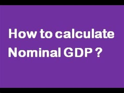 How To Calculate Nominal Gdp ?(caiibabm) Youtube