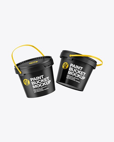 Home our free mockup free paint bucket mockup psd template. Two Matte Paint Buckets Mockup in Can Mockups on Yellow ...