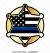 Police support star and flag emblem. A police and law ...