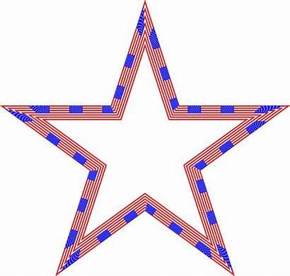 Flag Star Clipart Usa Stars Patriotic Night