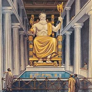 The Statue of Zeus at Olympia, one of the 7 Ancient