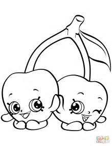Cheeky Cherries Shopkin coloring page   Free Printable ...