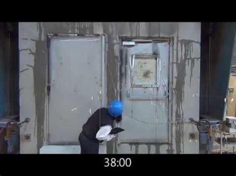 porte blind 233 e 2 vantaux essai de r 233 sistance au feu